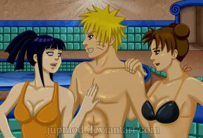 NaruHinaTen: Hot Baths Threesome by JuPMod