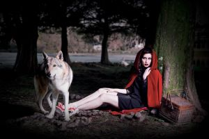 Once Upon One Time, one girl and wolf... Part03 by hikari-studio