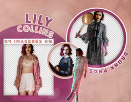 PACK PNG 47 /// LILY COLLINS. by DRUNK-PNGS