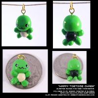 Happy Tortoise Charm by CatharsisJB
