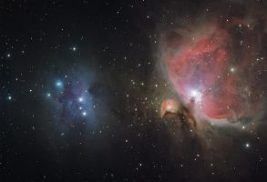 M42 + Ngc1973/75/77 by RedXen