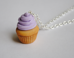 Lavender Frosted Cupcake by ClayRunway