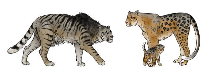 The Cave Tiger and the Jumping Panther by MonikaZagrobelna