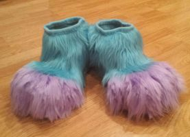 Andromeda Cat Fursuit Feetpaws by Lufca