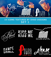 10 icons textures  SET 1 by shad-designs