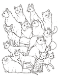 Cats colouring page by novablue