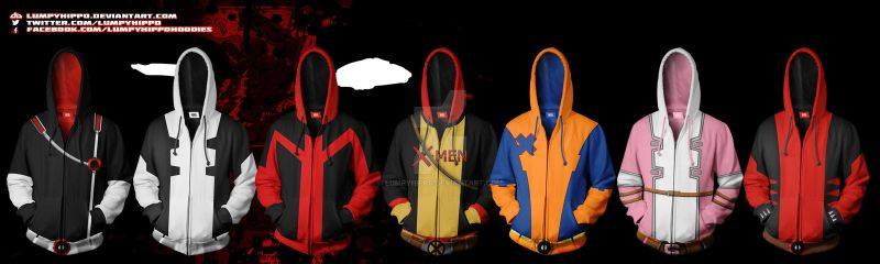 Deadpool Hoodies 2 by lumpyhippo