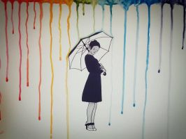 Colored rain by GracexFully
