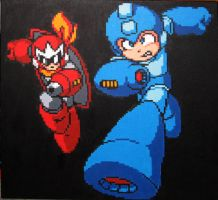 Megaman and Protoman by Squarepainter