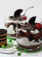 Chocolate Mousse Oreo Cookies Parfait II by theresahelmer