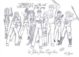 Percy Jackson Characters by Mergirlonland