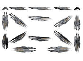 Mass Effect 3, Cerberus Cruiser Reference. by Troodon80