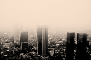 Frankfurt in Fog by ladykatniss