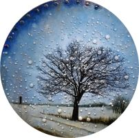 The January Tree in the Rearview Mirror by RobLock