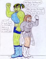 Supers and Hulks - Courtney and Eva by Jose-Ramiro