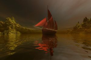 Red Sails by sylver-dali