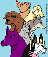 my friends as Ginga dogs by wolvesanddogs23