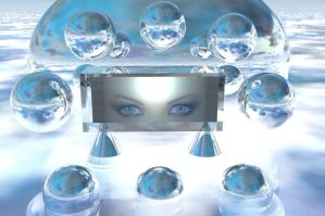 Eyes in glass green by docx