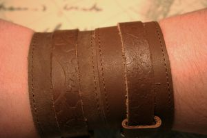 Brown Leather Cuff by turnerstokens