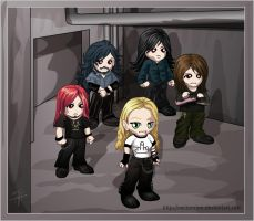 Arch Enemy band Chibbi by Vectorolon