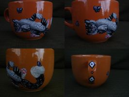 Snow Tipard Mug by JayaJava