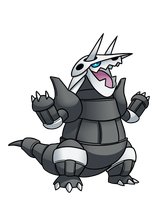 Agressive Aggron by Red-Flare