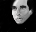 Christian Bale-Esque Portrait by visualdelusion