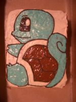 Squirtle Cake by iliketodoodle