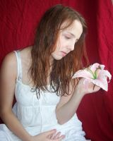 White Angel-Fairy W Flower 20 by Gracies-Stock