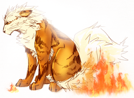 Arcanine by Donnis