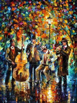 Glowing Music by Leonid Afremov by Leonidafremov
