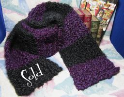 Purple 'n Black Super Soft Scarf by SmilingMoonCreations
