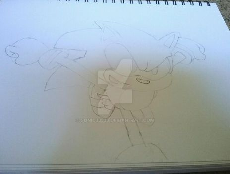 Sonic sketch by Sonic33333