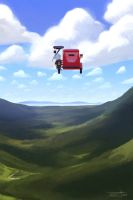 The Flying Tricycle: Soaring Over by trisketched