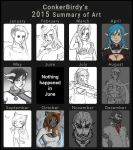 Summary of Art 2015 by ConkerBirdy