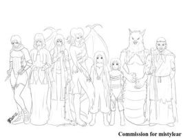 COM : 8 Antagonist Characters SKETCH by whiteguardian