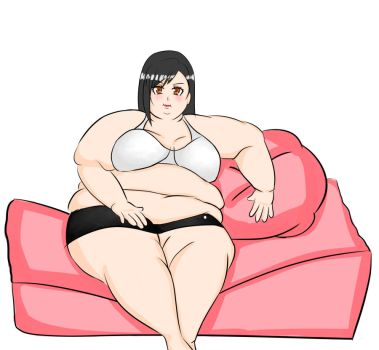 Tifa Let herself go by TheBellyBloom
