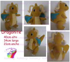 Dragonite plush by chocoloverx3