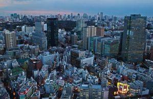 Over Tokyo by YuffieV