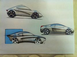 Car sketches by DrTr