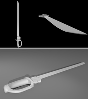 Wip : Sol Saber low poly  untextured by Solacen