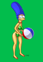 Marge Simpson - Bikini Series by super-enthused