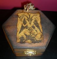 Satanic Altar Box 1 by DETHCHEEZ