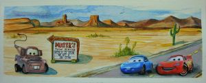 Cars Desert w Stickers by heatherkparks