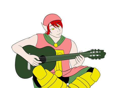 Simonn with a guitar by The-WeeJay