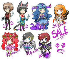 Adoptable SALE!!! money and points: CLOSED by VanileCream