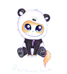 Panda Costume by BatmanSamXD