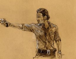 The Walking Dead - Rick by Graymalkin2112