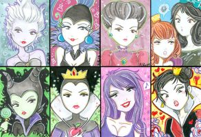 Miss Kika As Disney Villains by Blush-Art