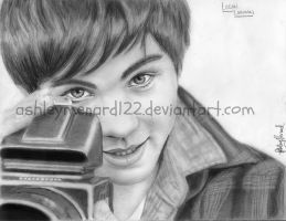 Logan Lerman Drawing 6 by ashleymenard122